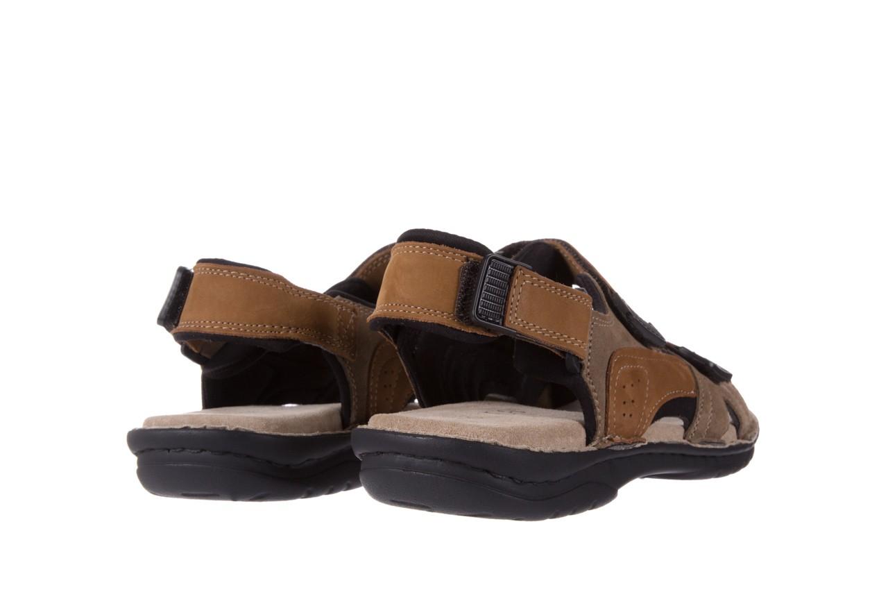 Sandały bayla-133 9520 nabuc nicotina, brąz, skóra naturalna 9