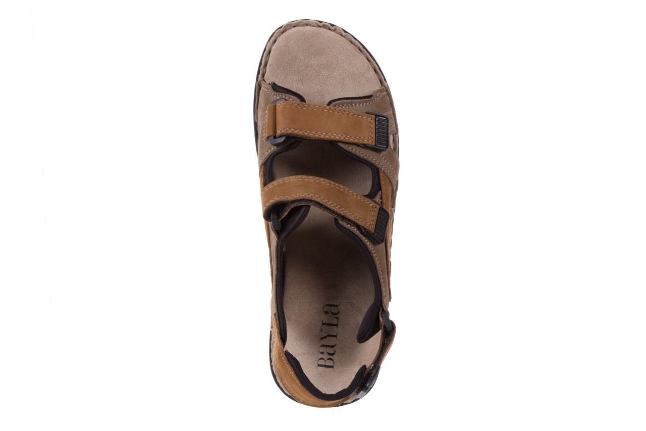 Sandały bayla-133 9520 nabuc nicotina, brąz, skóra naturalna 10