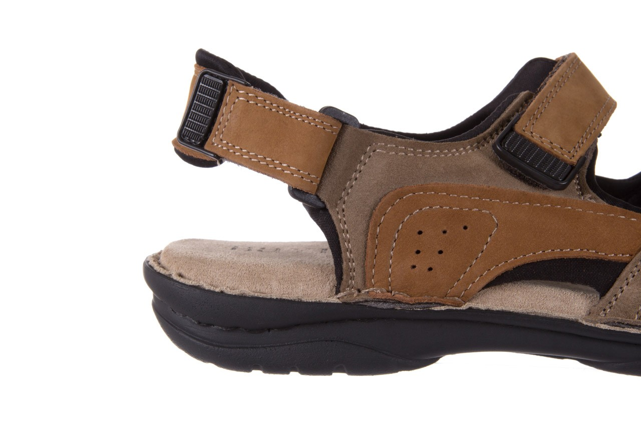 Sandały bayla-133 9520 nabuc nicotina, brąz, skóra naturalna 11