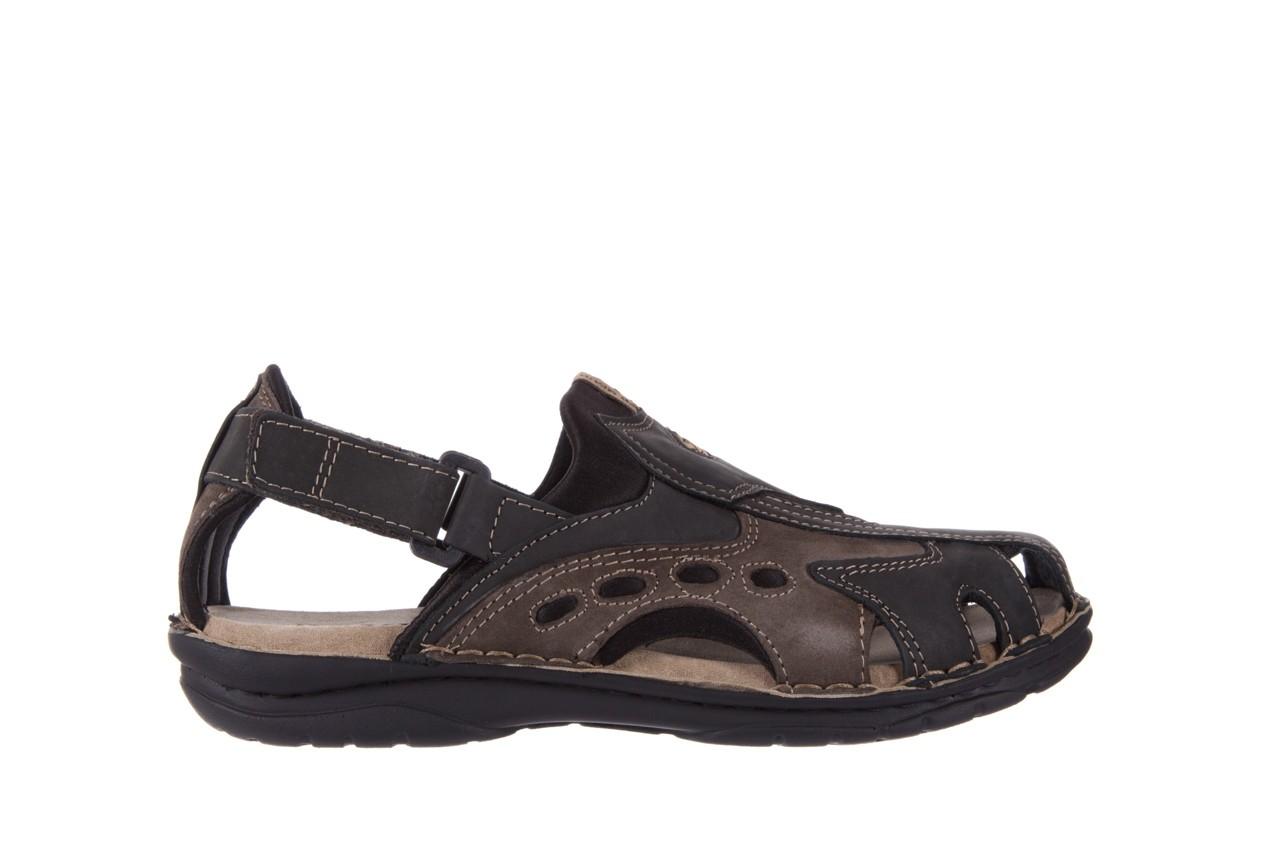 Sandały bayla-133 9522 nabuc smog, brąz, skóra naturalna  - sandały - dla niego - sale 6