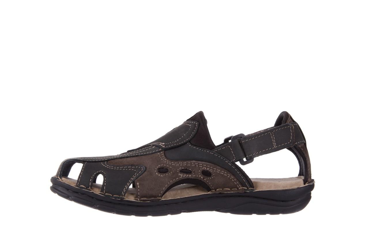 Sandały bayla-133 9522 nabuc smog, brąz, skóra naturalna  - sandały - dla niego - sale 8