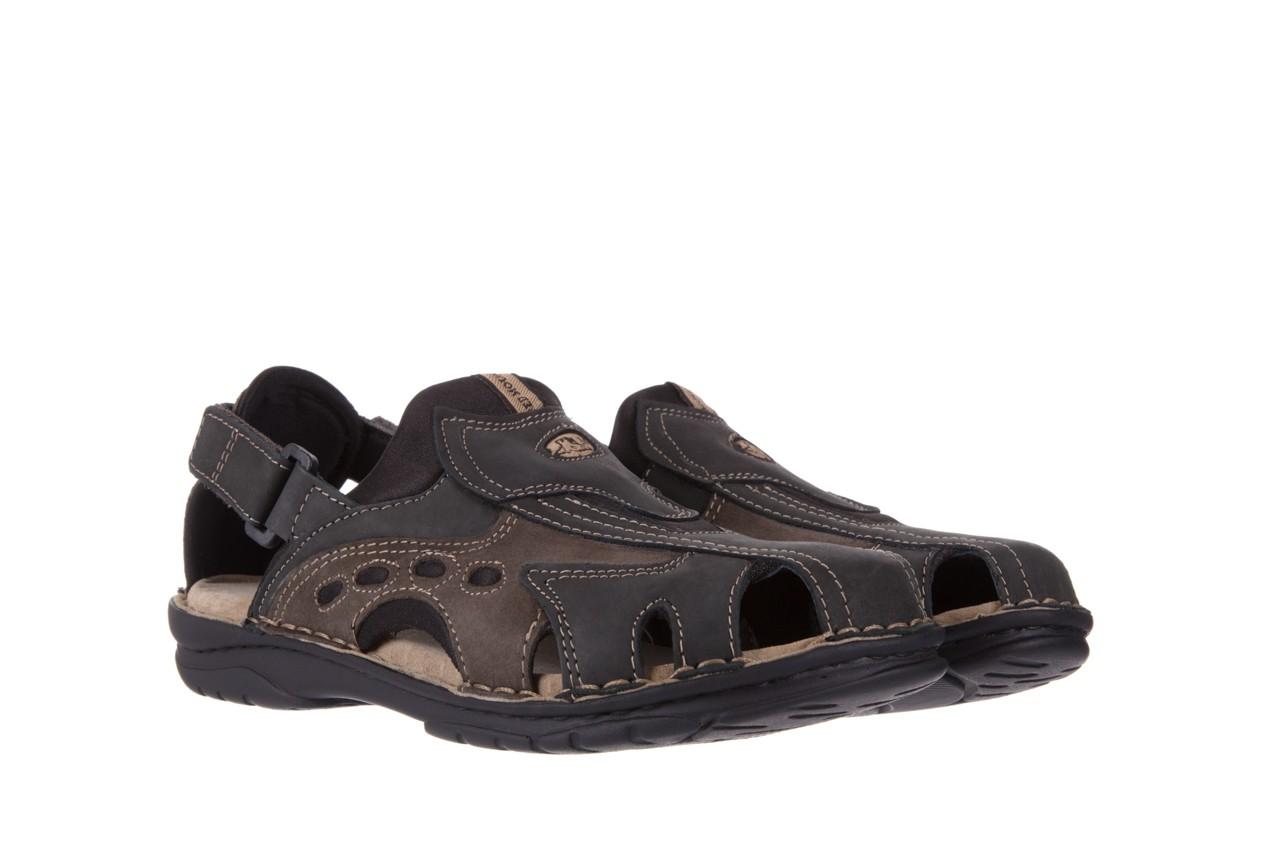 Sandały bayla-133 9522 nabuc smog, brąz, skóra naturalna  - sandały - dla niego - sale 7