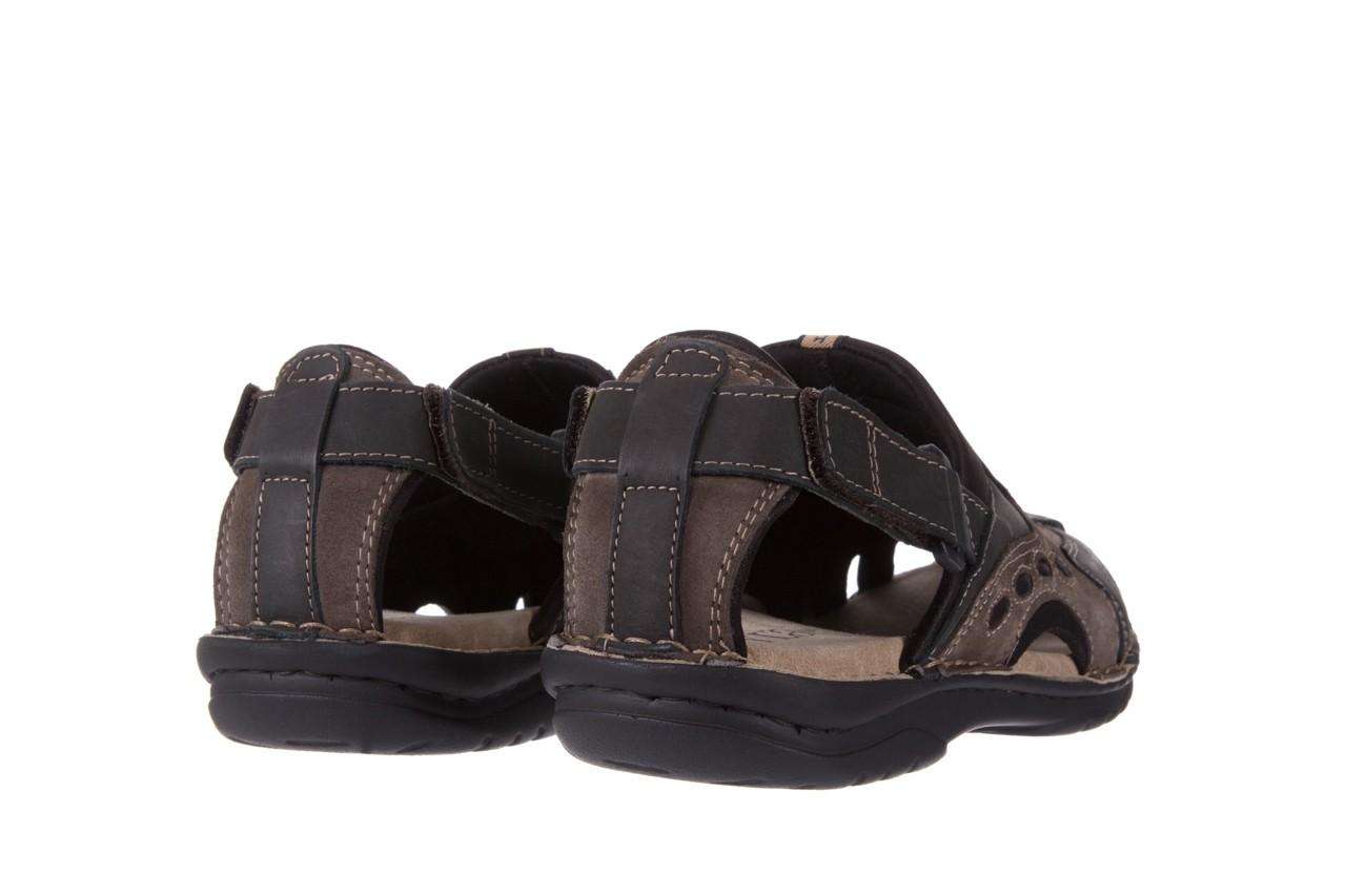 Sandały bayla-133 9522 nabuc smog, brąz, skóra naturalna  - sandały - dla niego - sale 9