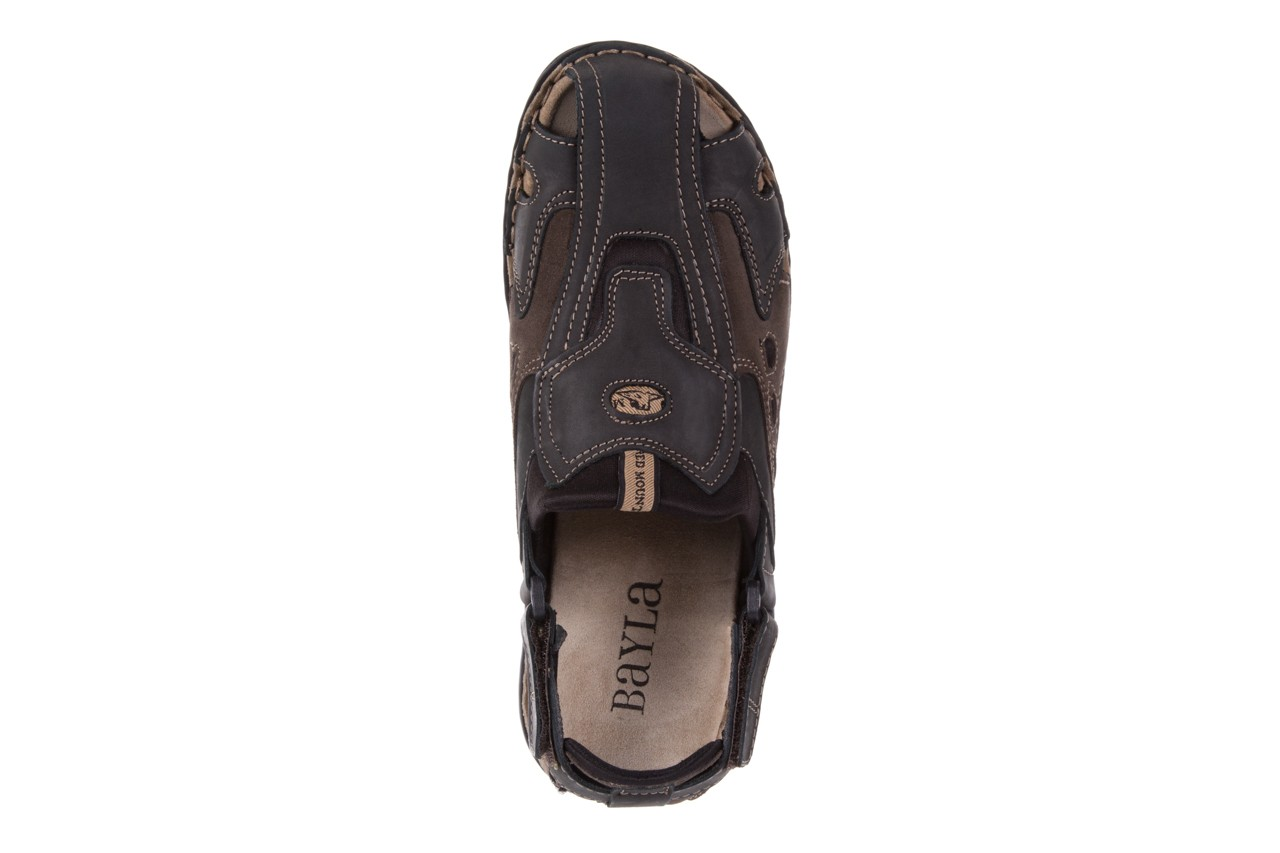 Sandały bayla-133 9522 nabuc smog, brąz, skóra naturalna  - sandały - dla niego - sale 10