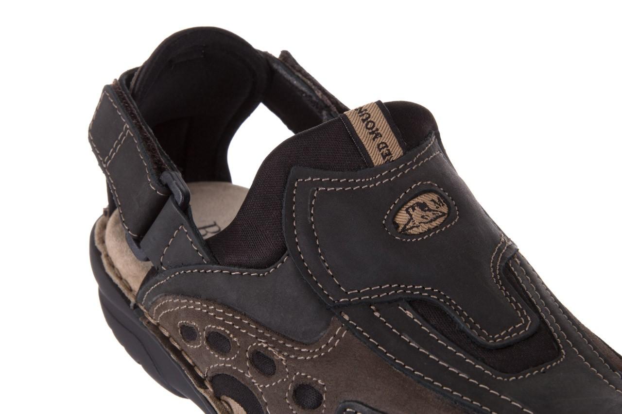 Sandały bayla-133 9522 nabuc smog, brąz, skóra naturalna  - sandały - dla niego - sale 11