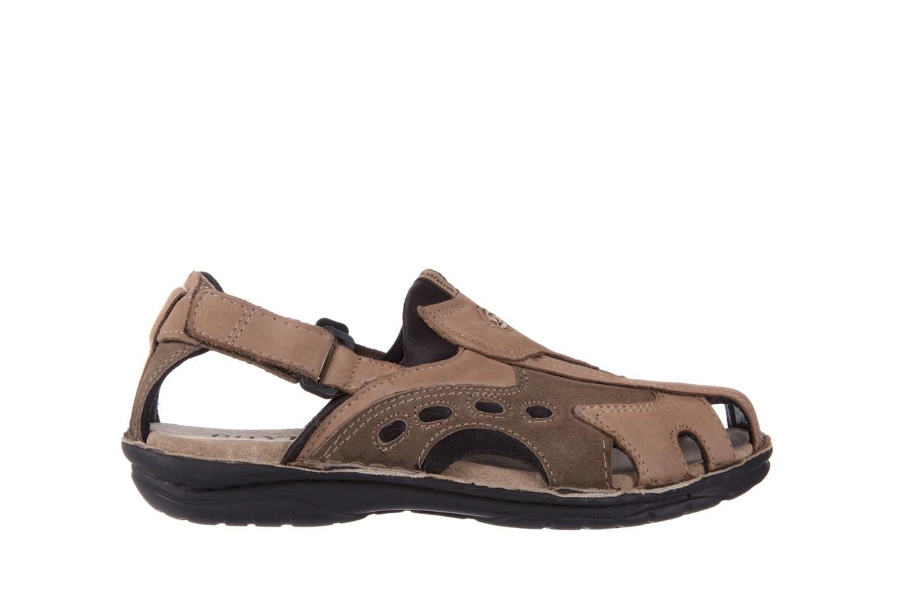Sandały bayla-133 9522 nabuc tortora, brąz, skóra naturalna  - sandały - dla niego - sale 6