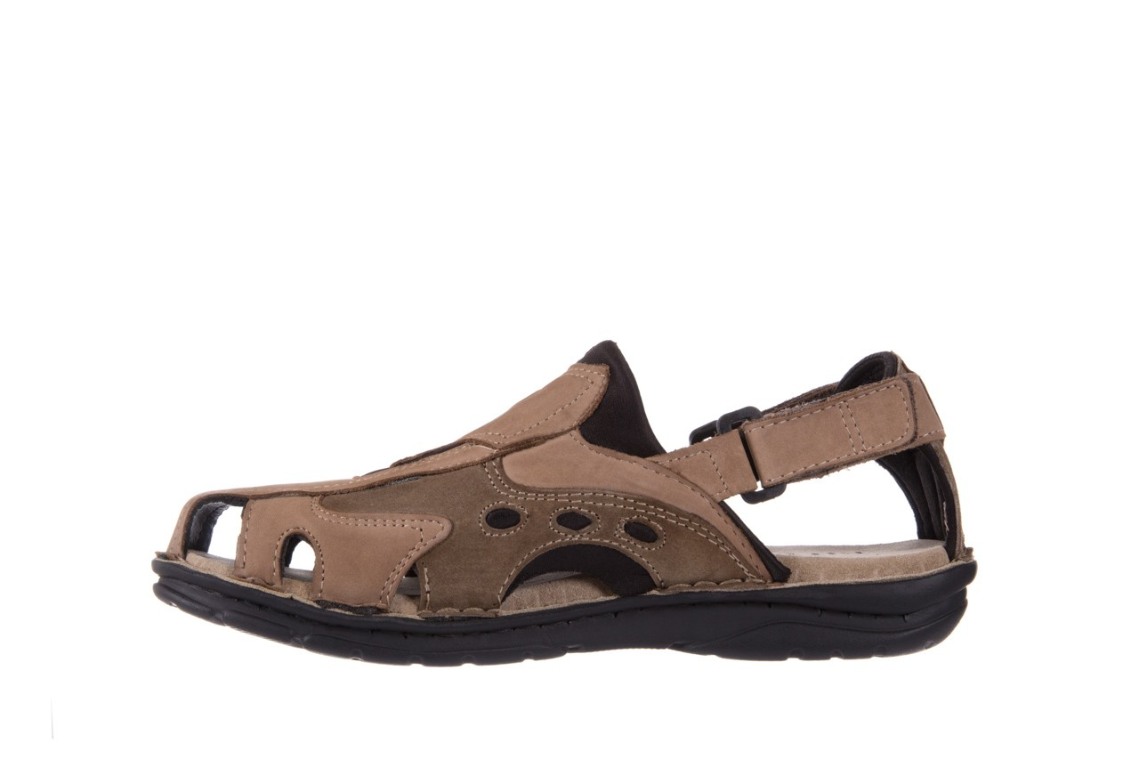 Sandały bayla-133 9522 nabuc tortora, brąz, skóra naturalna 8