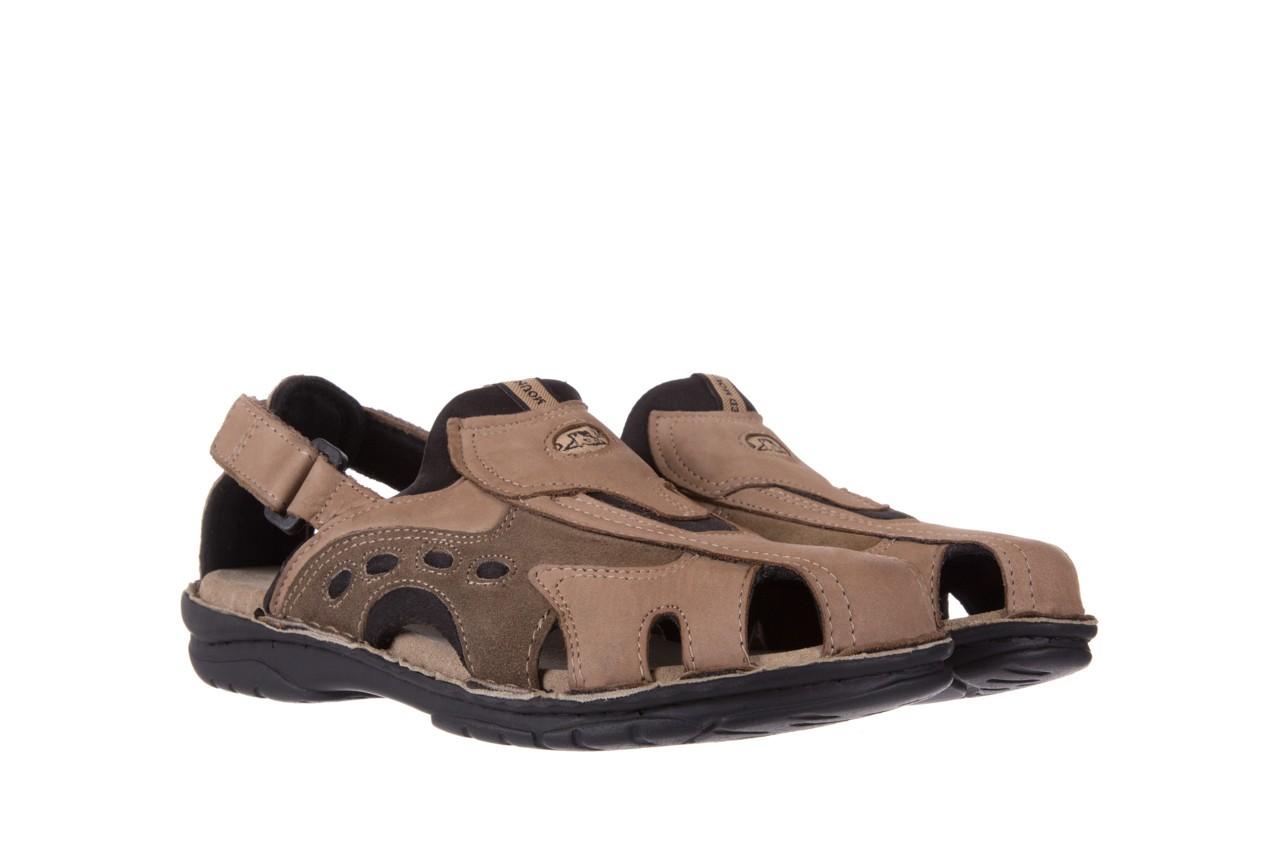 Sandały bayla-133 9522 nabuc tortora, brąz, skóra naturalna  - sandały - dla niego - sale 7