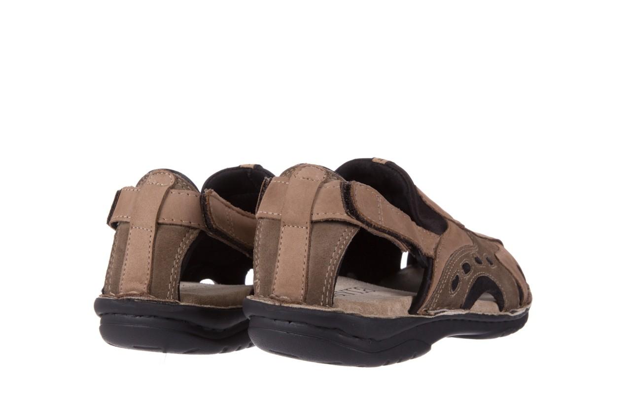 Sandały bayla-133 9522 nabuc tortora, brąz, skóra naturalna  - sandały - dla niego - sale 9