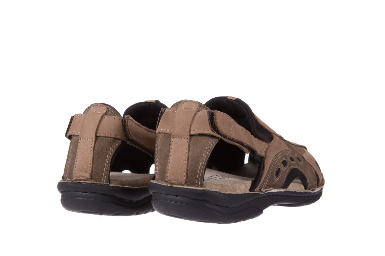 Sandały bayla-133 9522 nabuc tortora, brąz, skóra naturalna 9