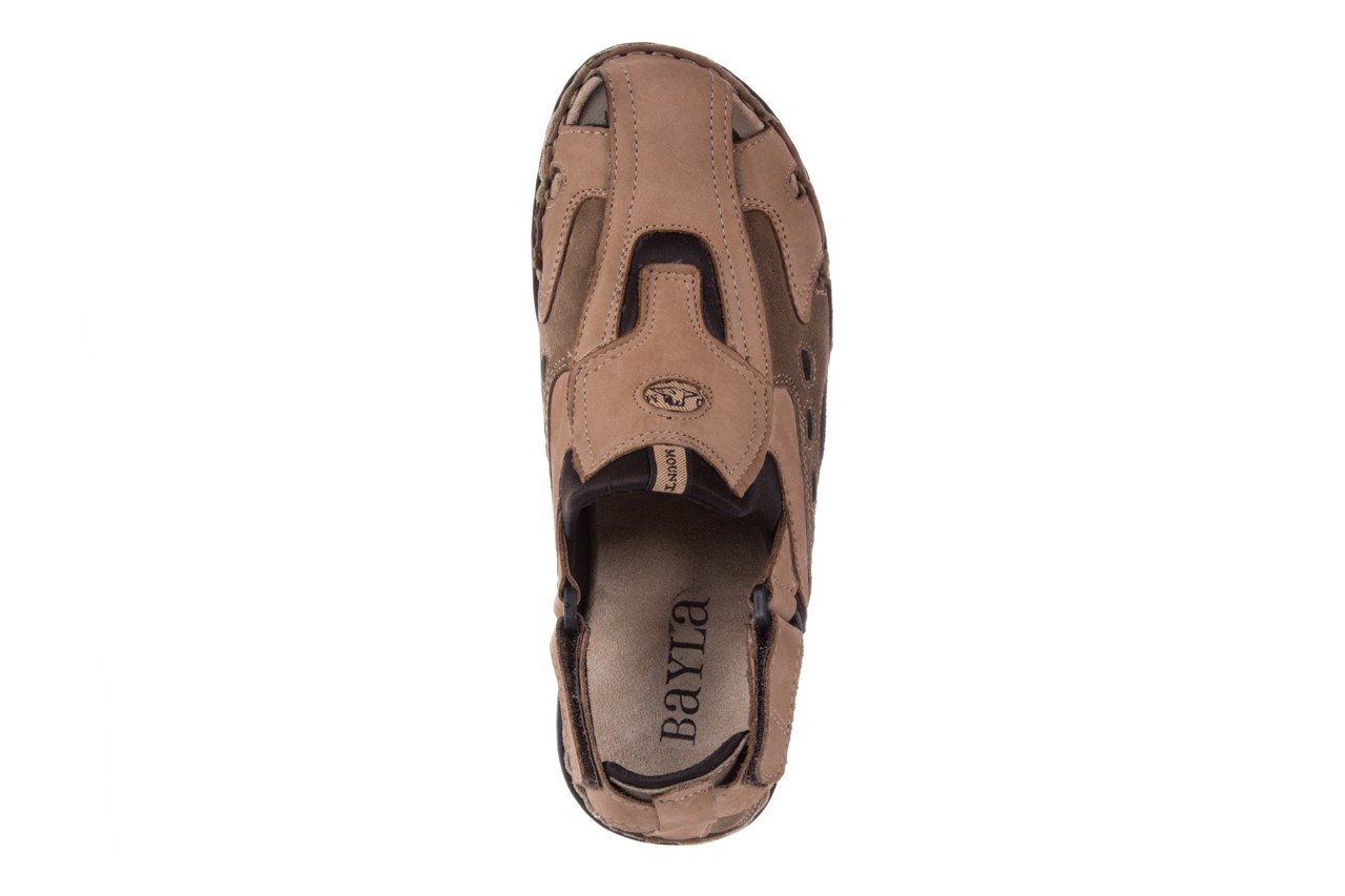 Sandały bayla-133 9522 nabuc tortora, brąz, skóra naturalna  - sandały - dla niego - sale 10
