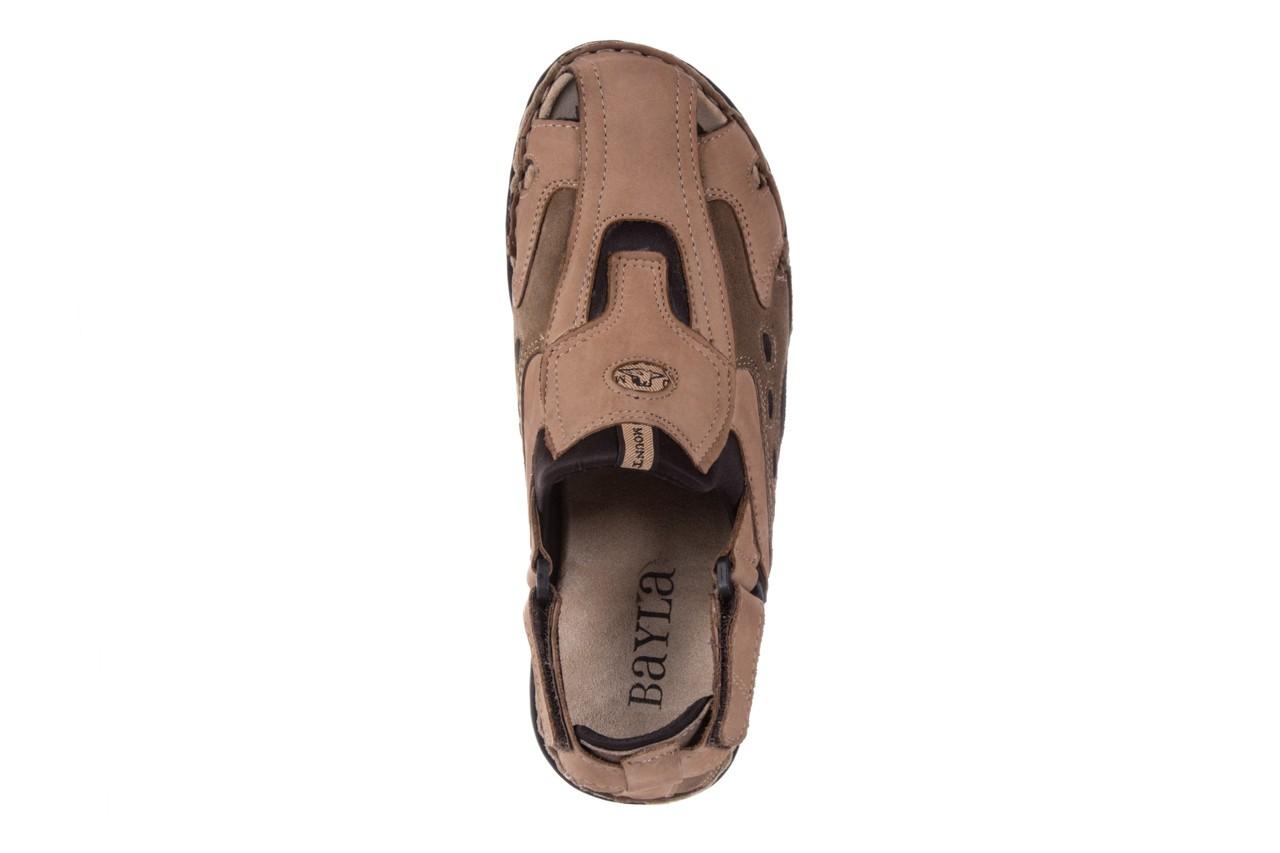 Sandały bayla-133 9522 nabuc tortora, brąz, skóra naturalna 10