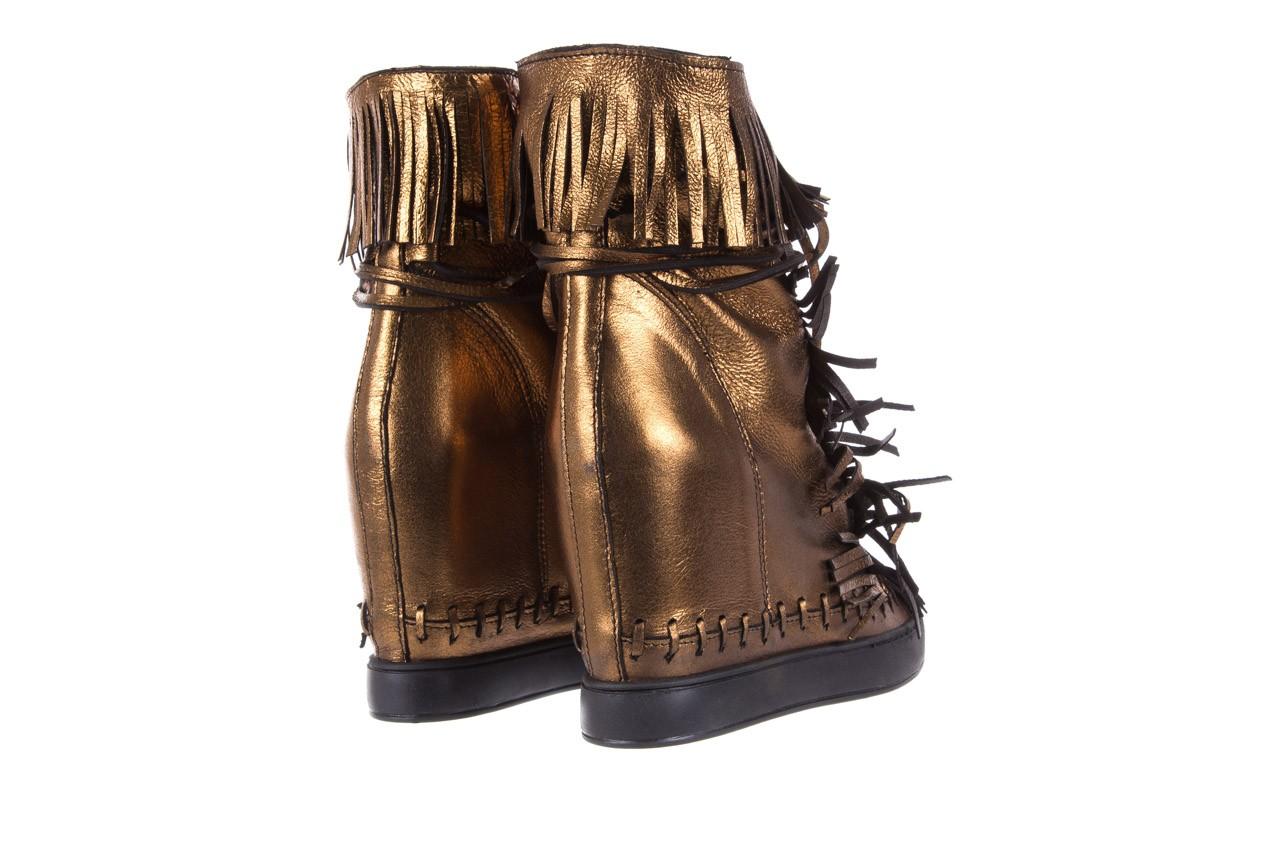 Botki bayla-136 g655 skóra złota, skóra naturalna  - na platformie - botki - buty damskie - kobieta 11