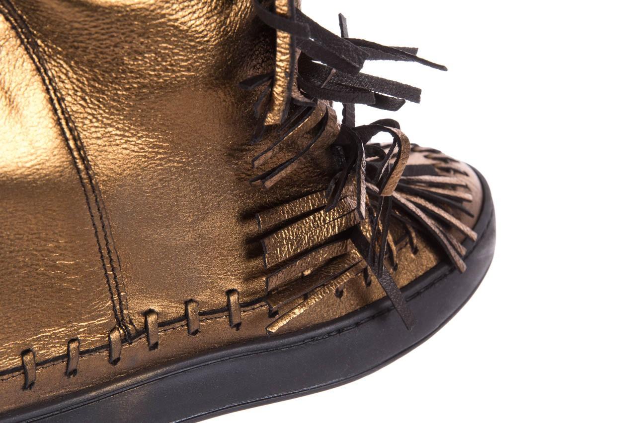 Botki bayla-136 g655 skóra złota, skóra naturalna  - na platformie - botki - buty damskie - kobieta 13