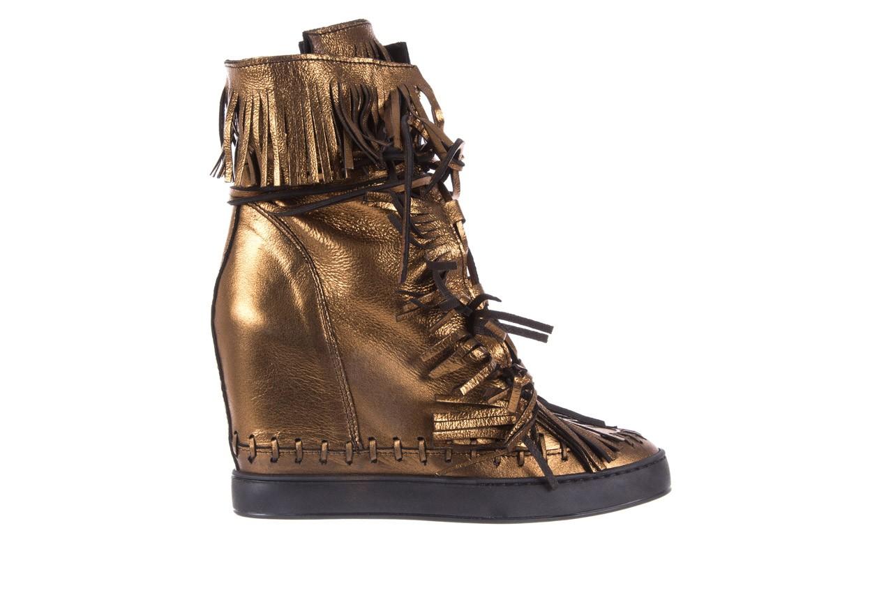 Botki bayla-136 g655 skóra złota, skóra naturalna  - na platformie - botki - buty damskie - kobieta 8