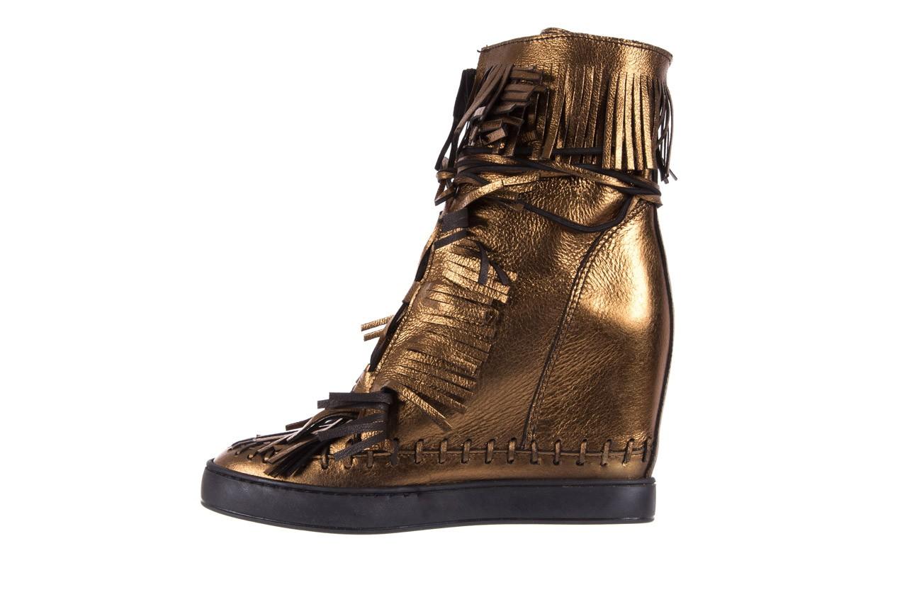Botki bayla-136 g655 skóra złota, skóra naturalna  - na platformie - botki - buty damskie - kobieta 10