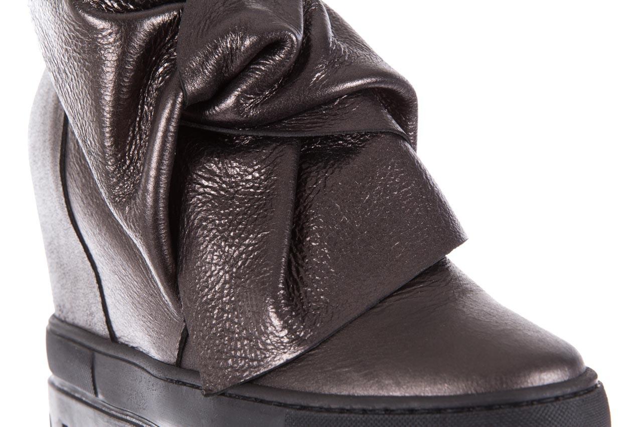 Botki bayla-136 g710 skóra antracyt, szary, skóra naturalna  - na platformie - botki - buty damskie - kobieta 13