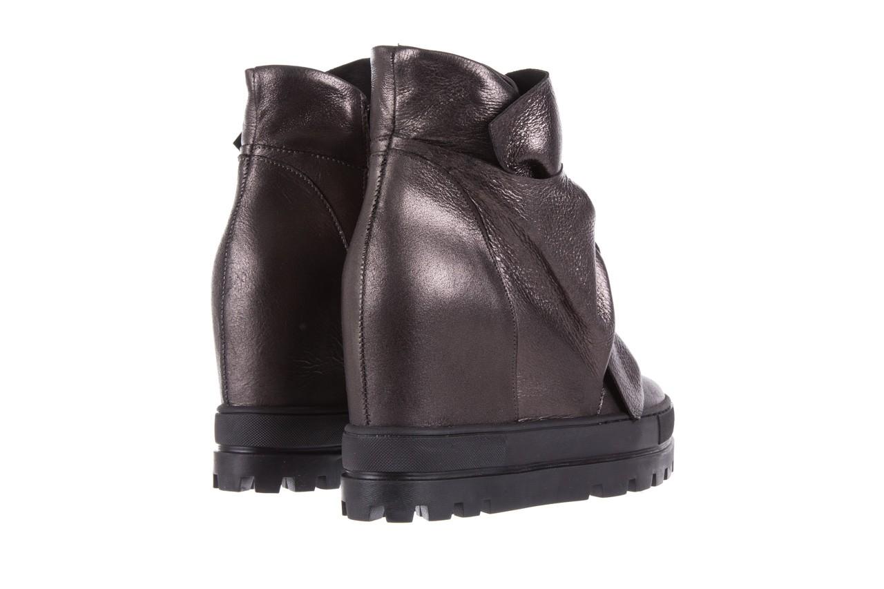 Botki bayla-136 g710 skóra antracyt, szary, skóra naturalna  - na platformie - botki - buty damskie - kobieta 11