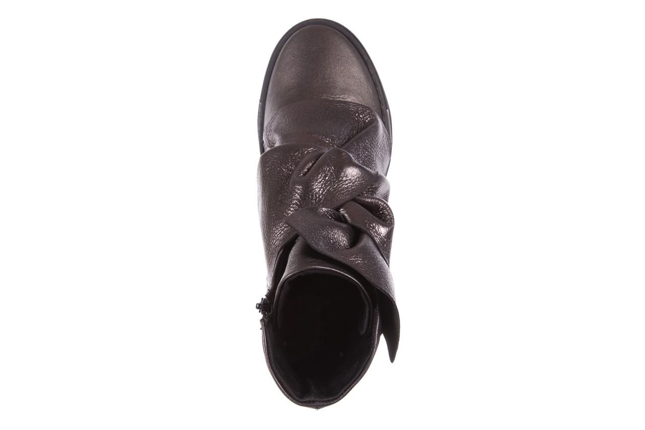 Botki bayla-136 g710 skóra antracyt, szary, skóra naturalna  - na platformie - botki - buty damskie - kobieta 12