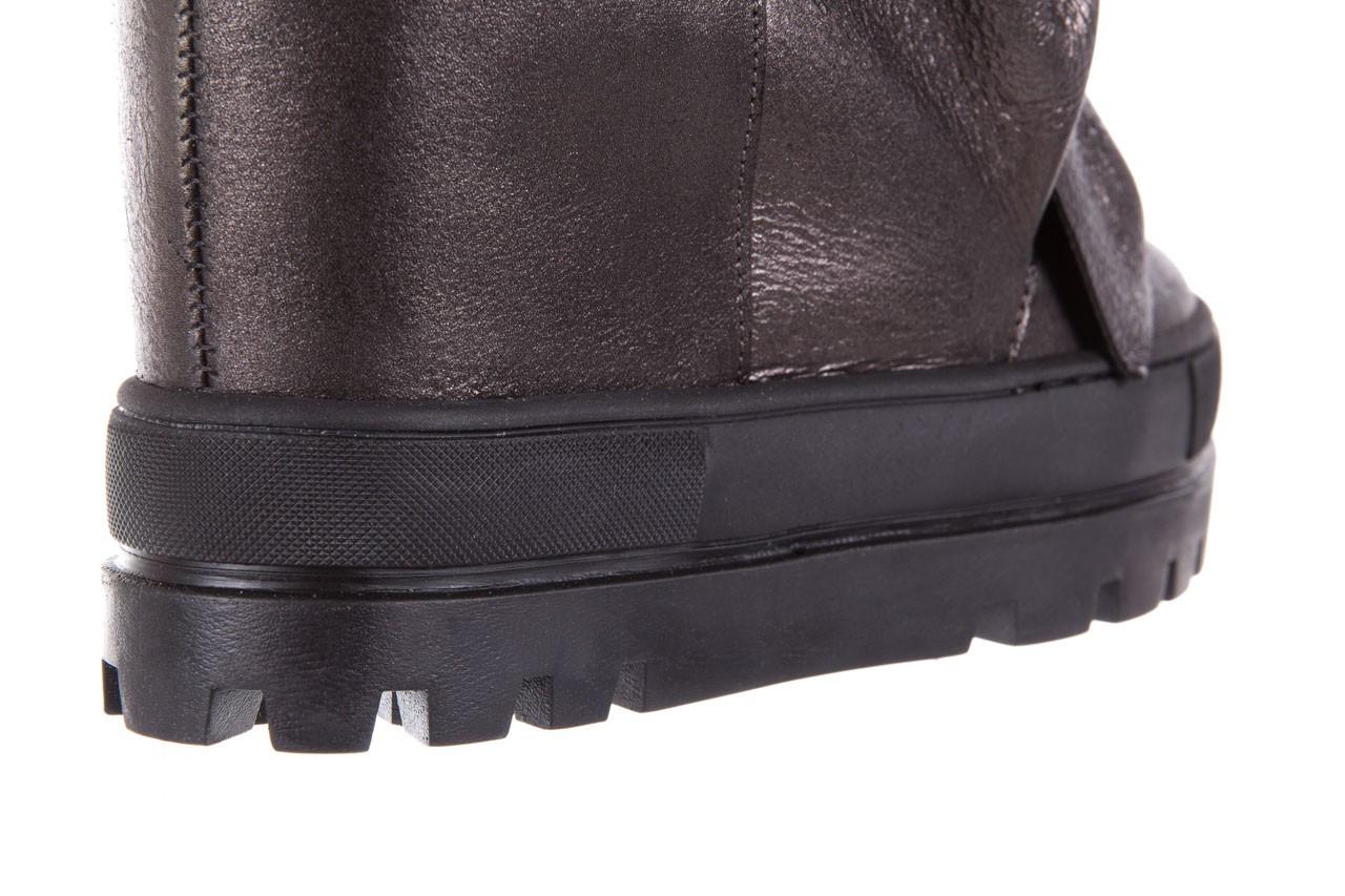 Botki bayla-136 g710 skóra antracyt, szary, skóra naturalna  - na platformie - botki - buty damskie - kobieta 14