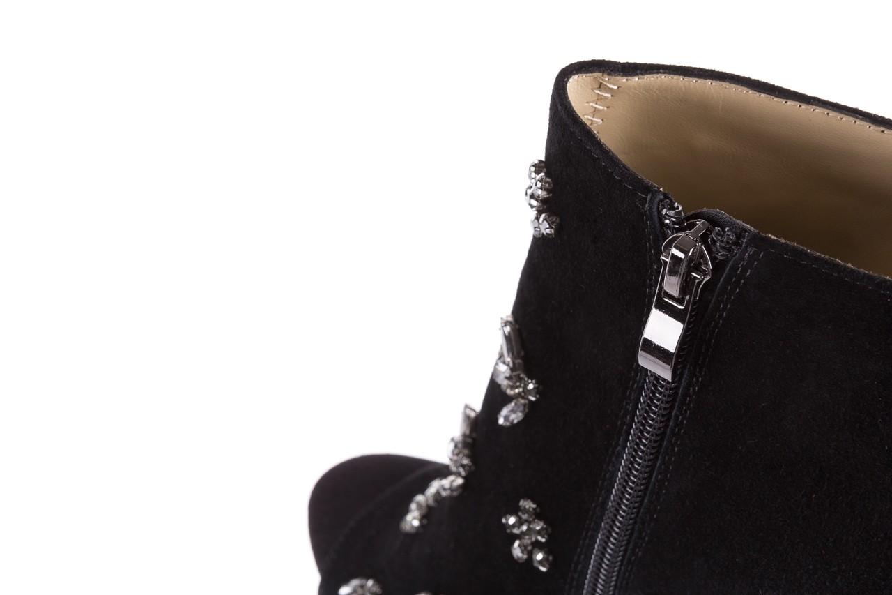 Botki bayla-144 pj010h-105-1a black, czarny, skóra naturalna  - na szpilce - botki - buty damskie - kobieta 15