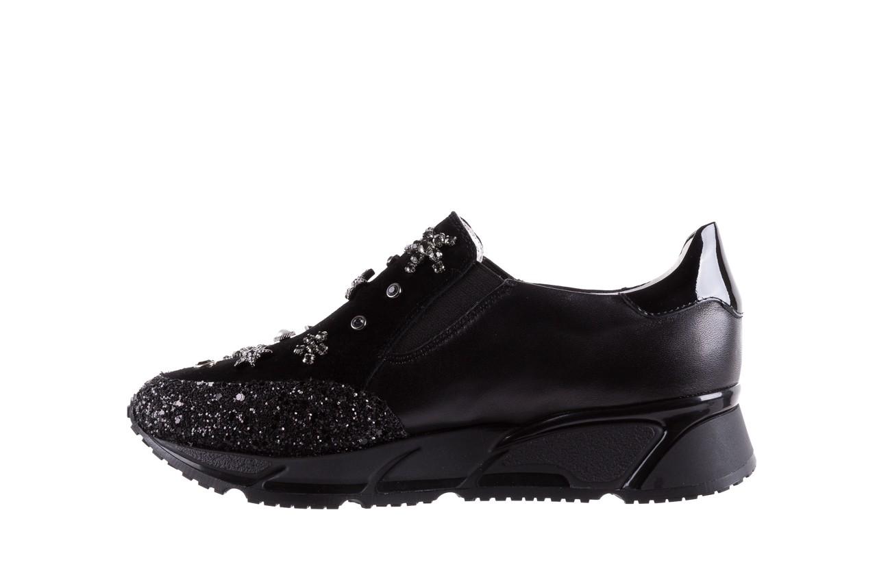 Sneakersy bayla-144 pj722l-16-1a black, czarny, skóra naturalna  - bayla - nasze marki 10