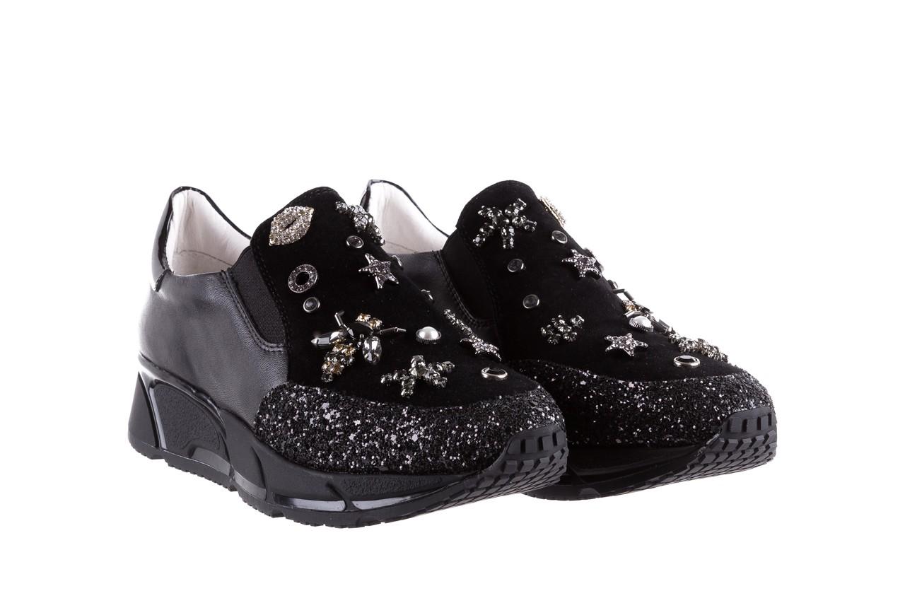 Sneakersy bayla-144 pj722l-16-1a black, czarny, skóra naturalna  - bayla - nasze marki 9