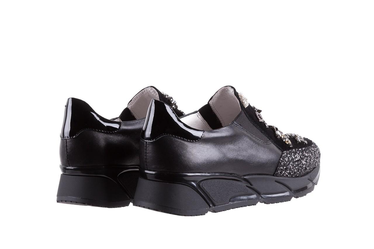 Sneakersy bayla-144 pj722l-16-1a black, czarny, skóra naturalna  - bayla - nasze marki 11