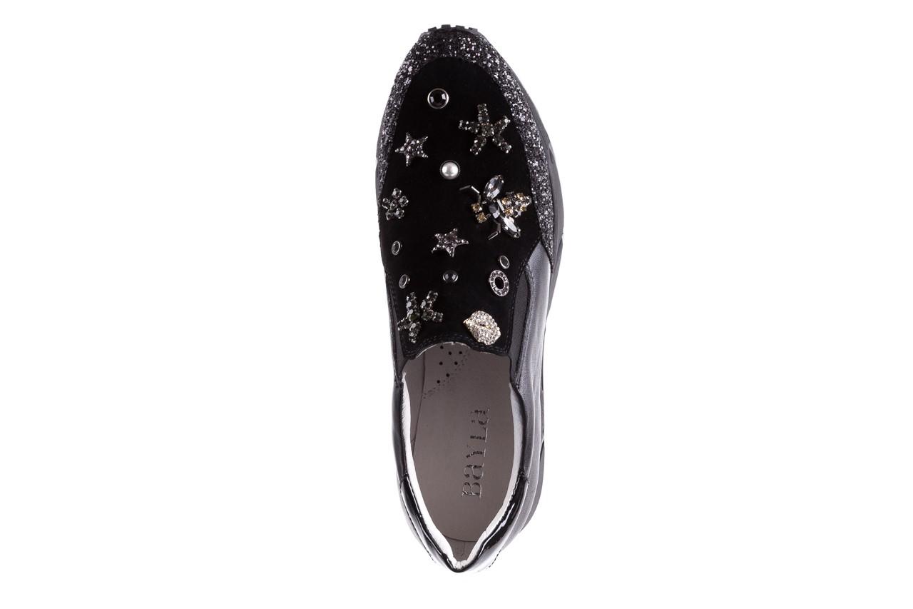 Sneakersy bayla-144 pj722l-16-1a black, czarny, skóra naturalna  - bayla - nasze marki 12