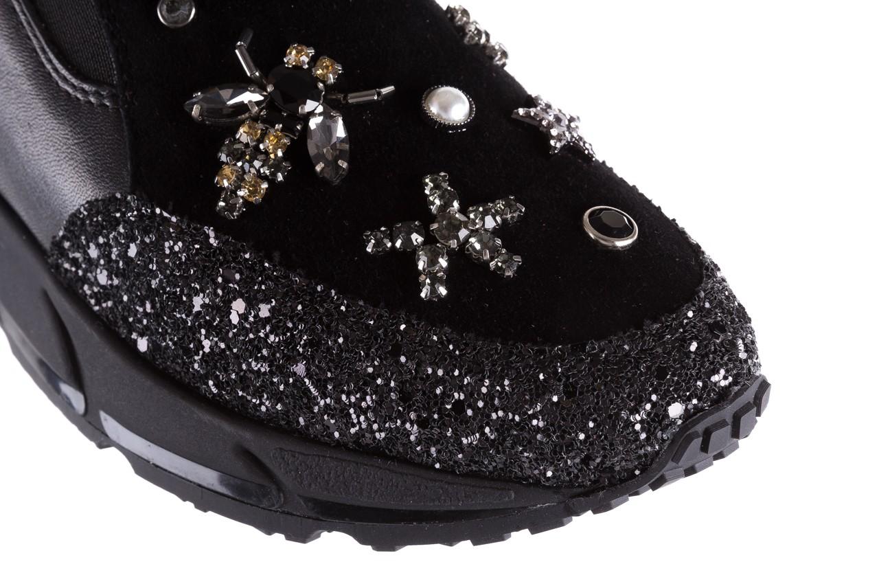 Sneakersy bayla-144 pj722l-16-1a black, czarny, skóra naturalna  - bayla - nasze marki 13