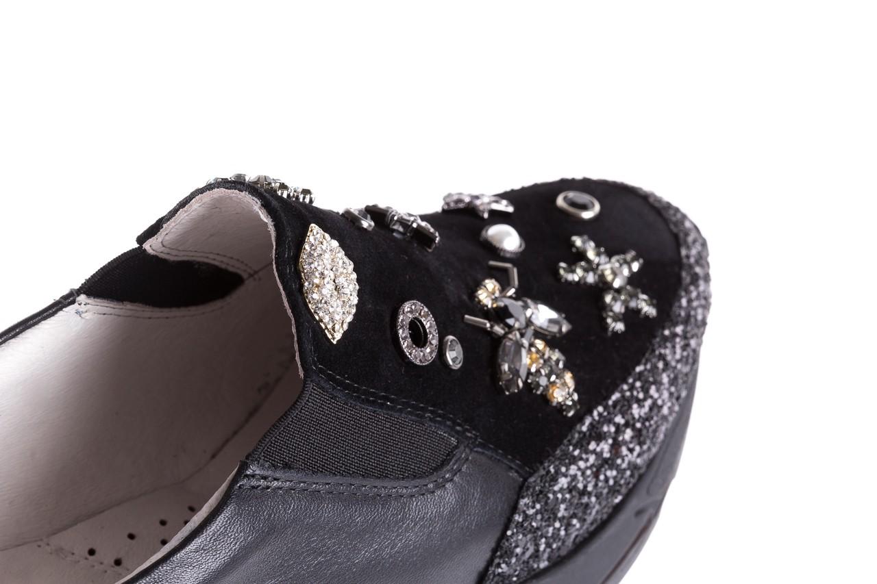 Sneakersy bayla-144 pj722l-16-1a black, czarny, skóra naturalna  - bayla - nasze marki 14
