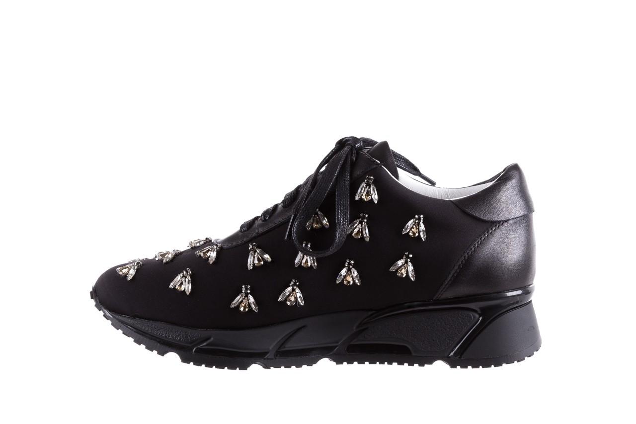 Sneakersy bayla-144 pj722l pj718l-9-1n black, czarny, skóra naturalna  - bayla - nasze marki 10