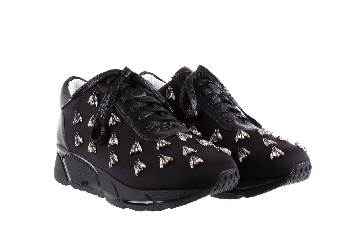 Sneakersy bayla-144 pj722l pj718l-9-1n black, czarny, skóra naturalna  - bayla - nasze marki 9