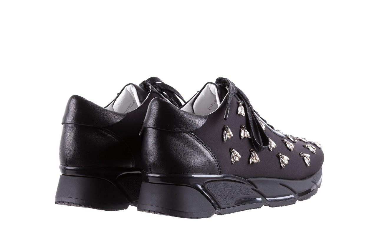 Sneakersy bayla-144 pj722l pj718l-9-1n black, czarny, skóra naturalna  - bayla - nasze marki 11