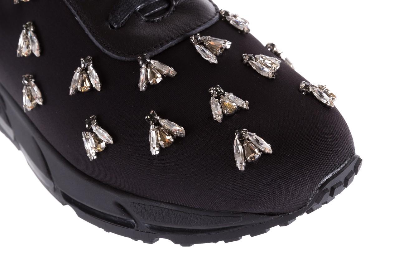 Sneakersy bayla-144 pj722l pj718l-9-1n black, czarny, skóra naturalna  - bayla - nasze marki 13
