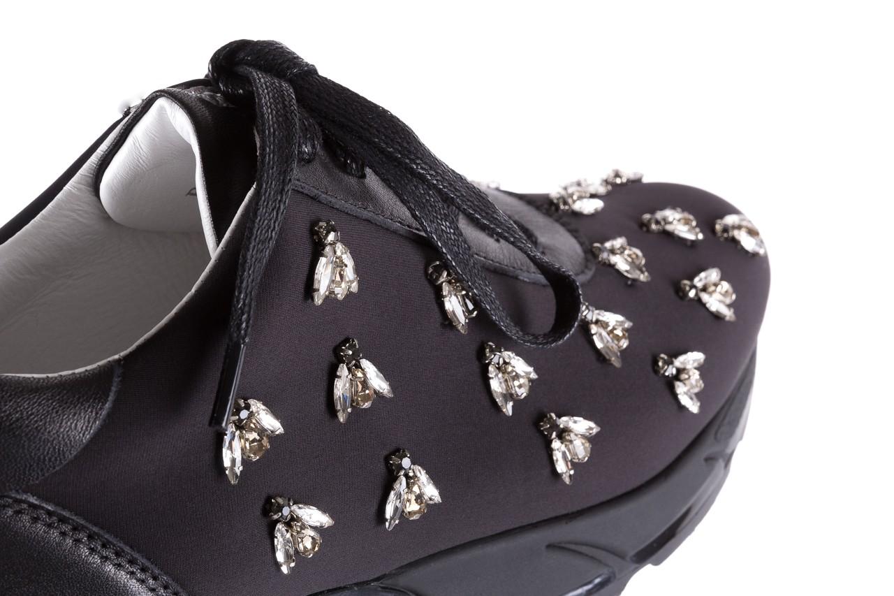 Sneakersy bayla-144 pj722l pj718l-9-1n black, czarny, skóra naturalna  - bayla - nasze marki 14