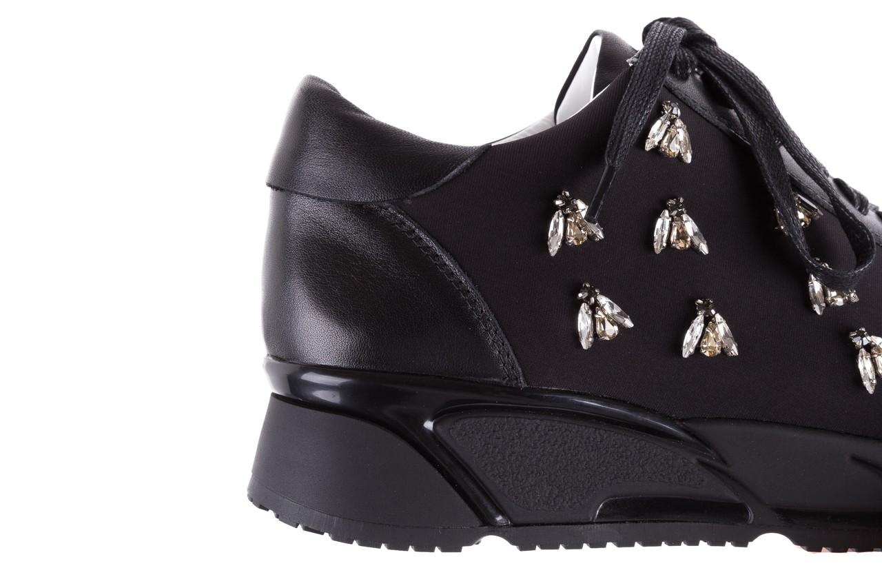 Sneakersy bayla-144 pj722l pj718l-9-1n black, czarny, skóra naturalna  - bayla - nasze marki 15