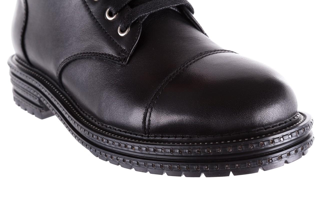 Trzewiki bayla-144 pj759h-2-1n black, czarny, skóra naturalna  - bayla - nasze marki 14
