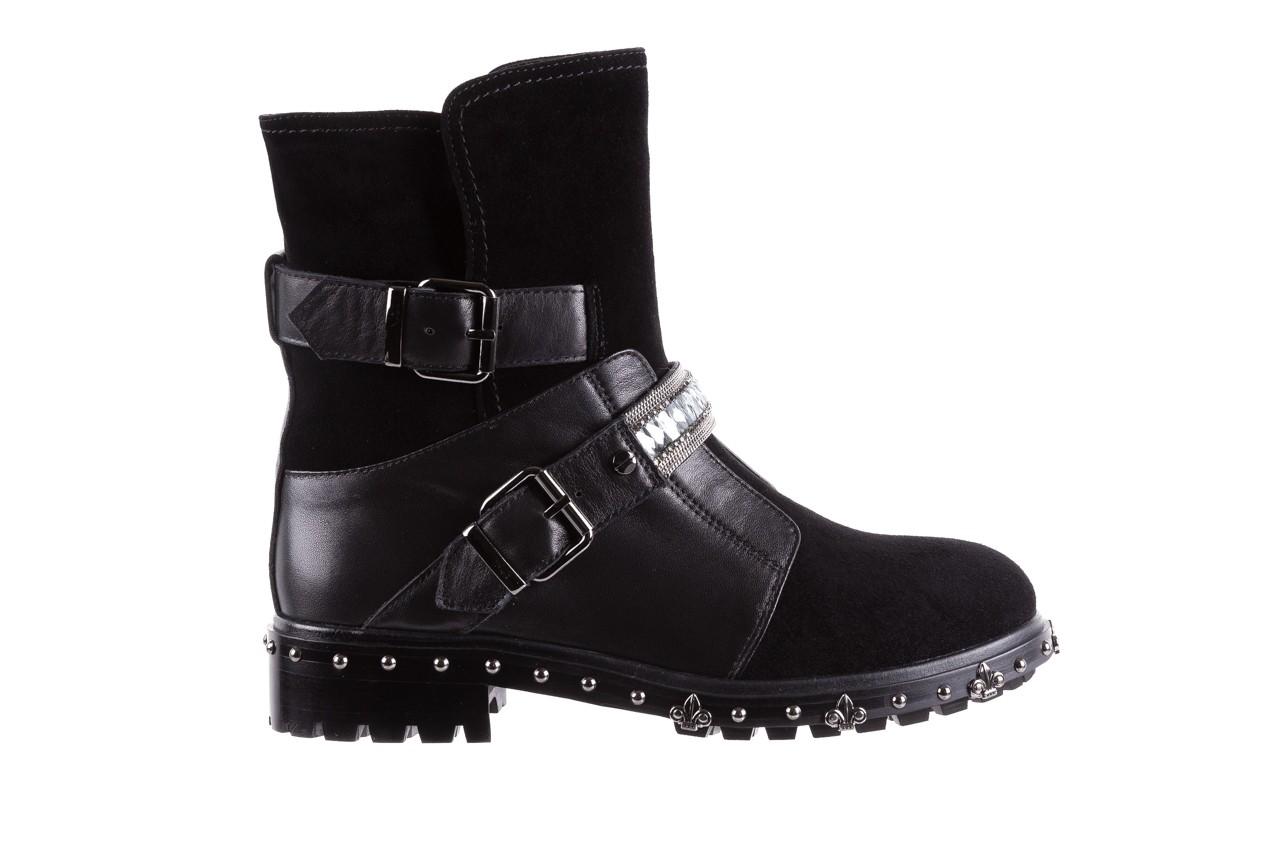 Trzewiki bayla-144 9301 czarne, skóra naturalna - trzewiki - buty damskie - kobieta 10