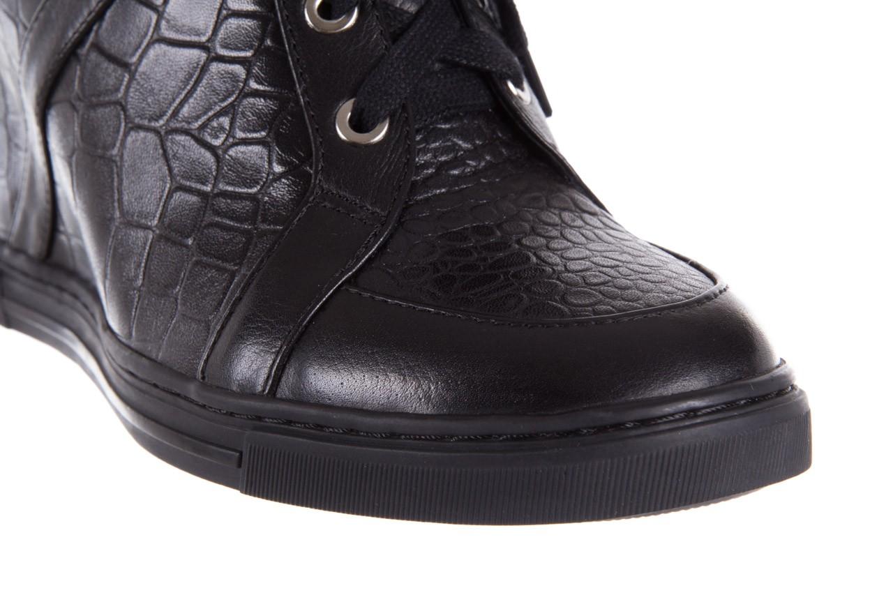 Sneakersy bayla-144 ps508h-16b-1n black, czarny, skóra naturalna  - bayla - nasze marki 13