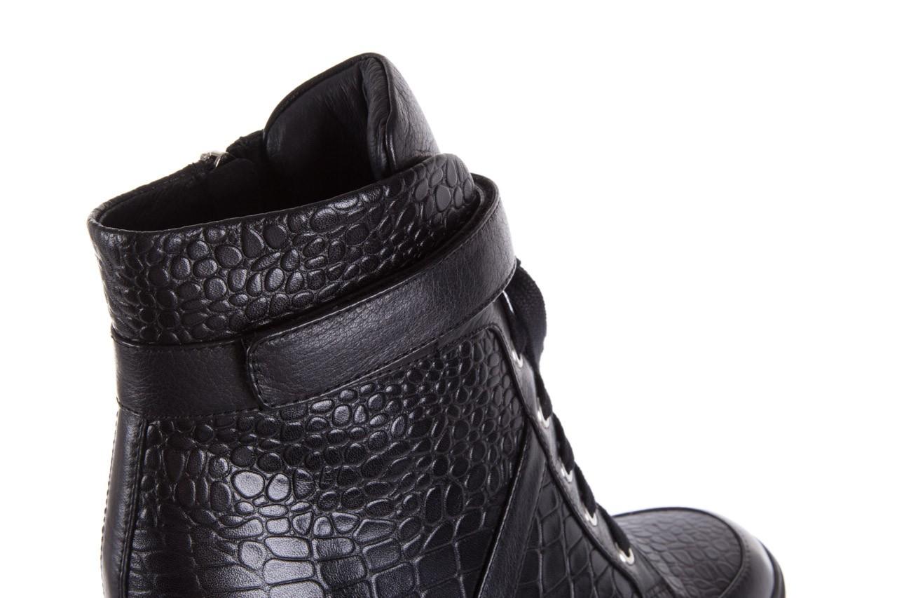 Sneakersy bayla-144 ps508h-16b-1n black, czarny, skóra naturalna  - bayla - nasze marki 14