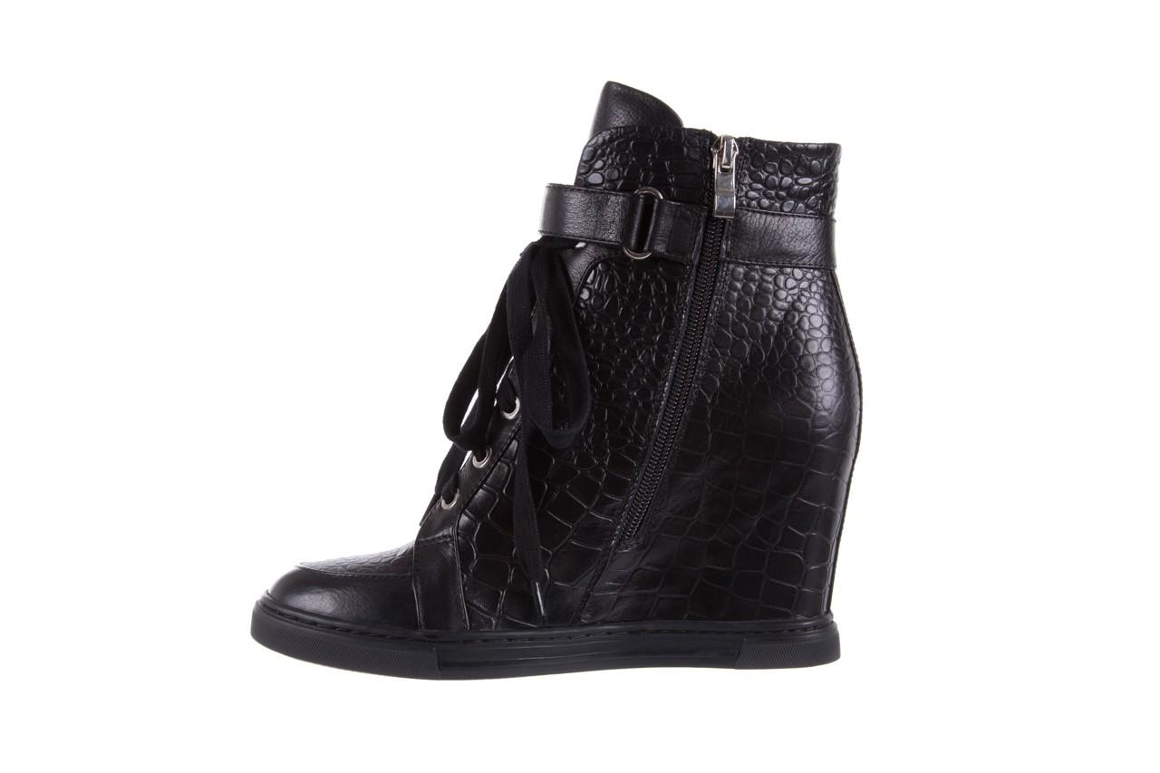 Sneakersy bayla-144 ps508h-16b-1n black, czarny, skóra naturalna  - bayla - nasze marki 10