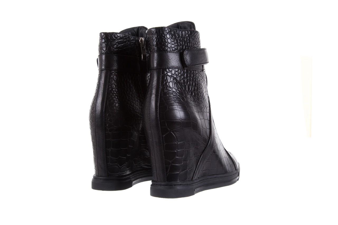 Sneakersy bayla-144 ps508h-16b-1n black, czarny, skóra naturalna  - bayla - nasze marki 11