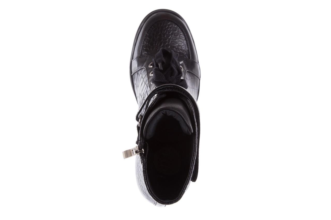 Sneakersy bayla-144 ps508h-16b-1n black, czarny, skóra naturalna  - bayla - nasze marki 12