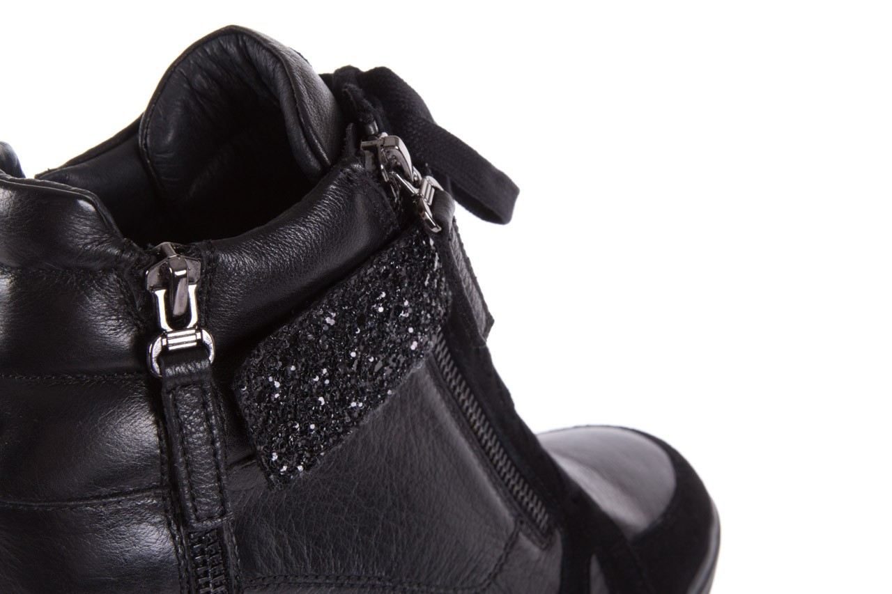 Sneakersy bayla-144 ps508h-75-1n black 17, czarny, skóra naturalna 13