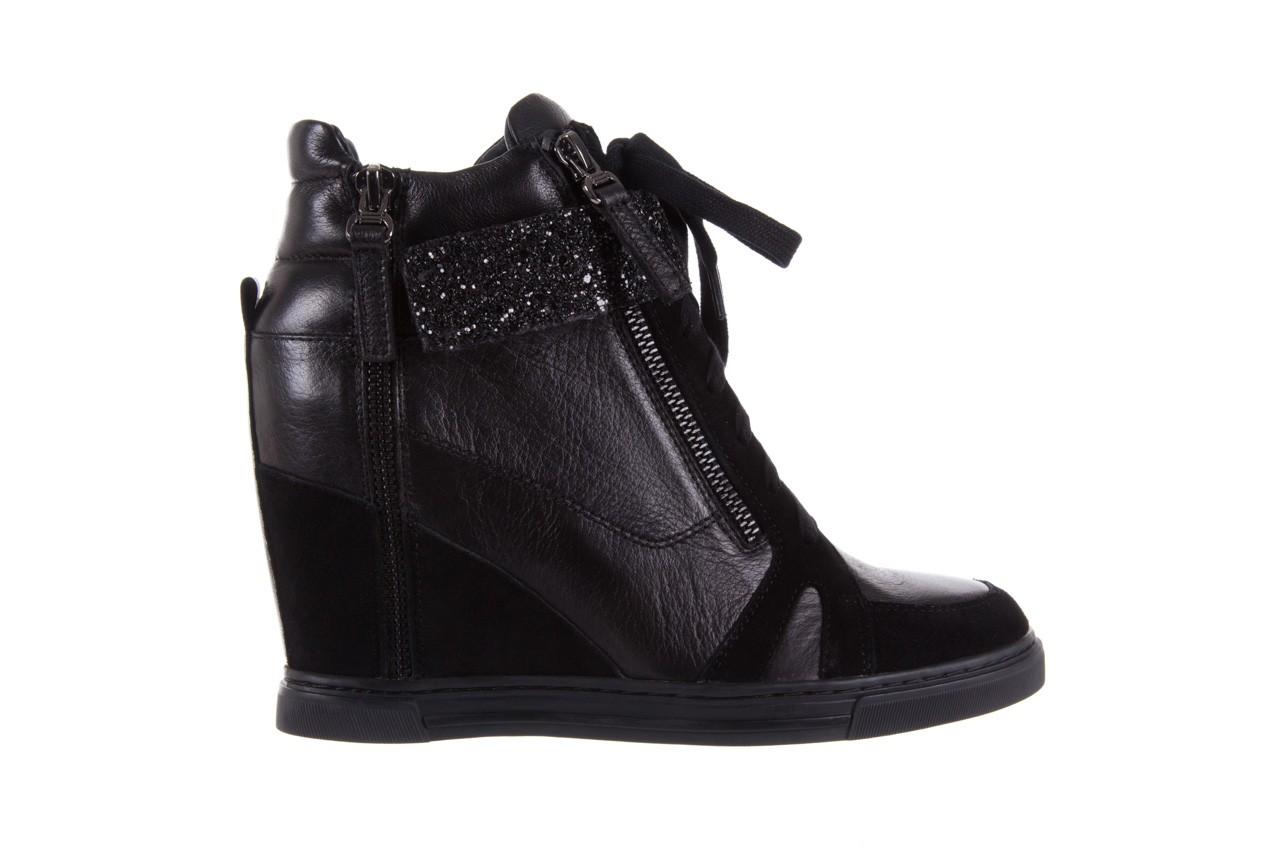 Sneakersy bayla-144 ps508h-75-1n black 17, czarny, skóra naturalna 7
