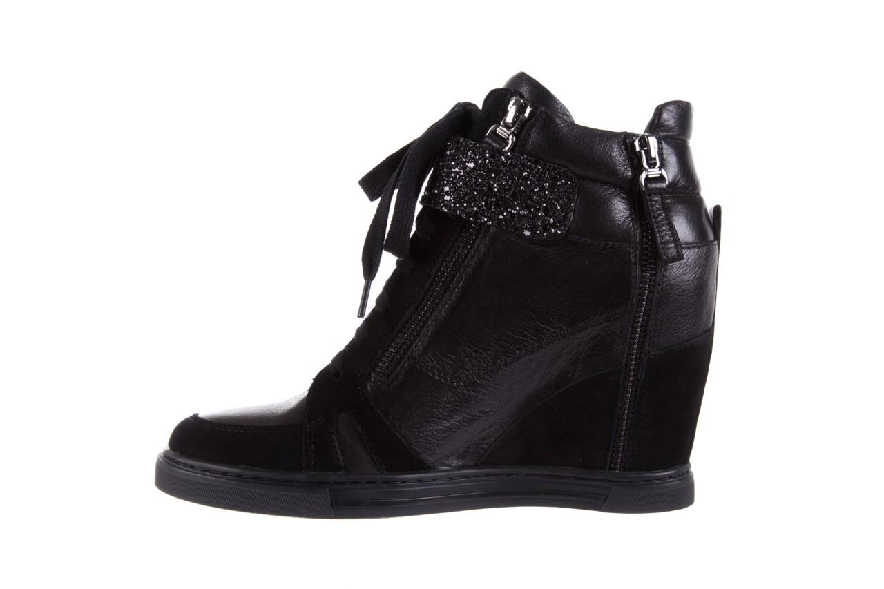 Sneakersy bayla-144 ps508h-75-1n black 17, czarny, skóra naturalna 9
