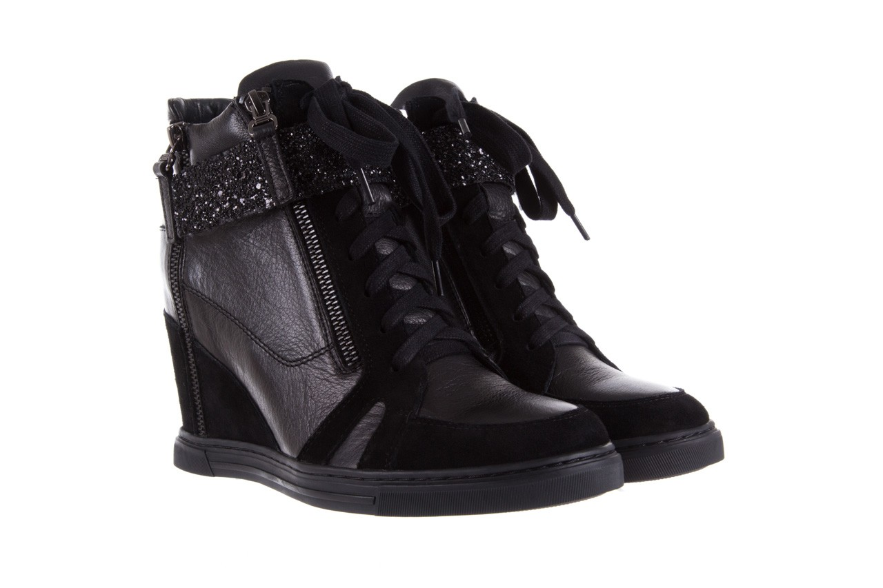 Sneakersy bayla-144 ps508h-75-1n black 17, czarny, skóra naturalna 8