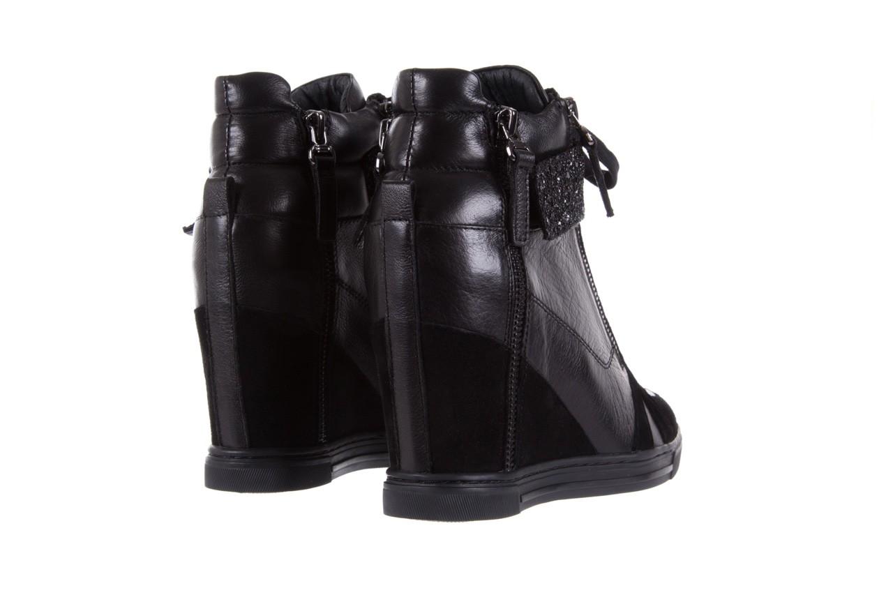 Sneakersy bayla-144 ps508h-75-1n black 17, czarny, skóra naturalna 10