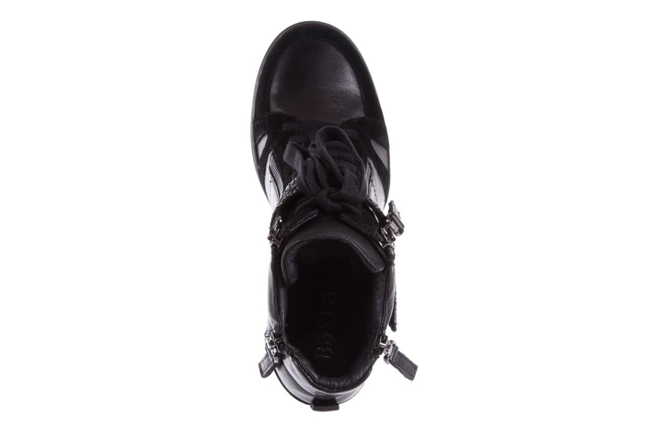 Sneakersy bayla-144 ps508h-75-1n black 17, czarny, skóra naturalna 11